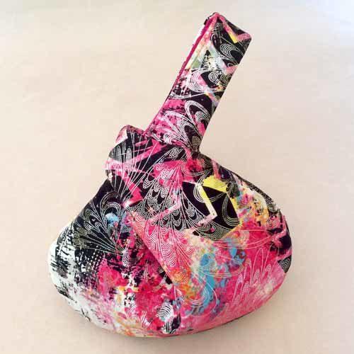 Metallic Pink Black Graffiti Wristlet