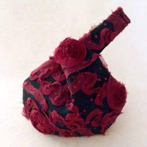 Red roses designer wristlet-OOAK