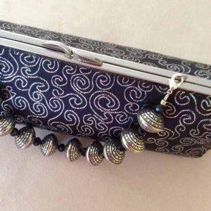 Silver Swirls Bracelet Clutch