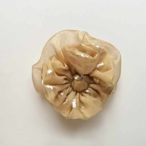 Champagne Gold Flower Accessory for Hair or Fashion