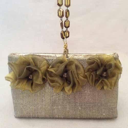 Gold Flowers Bracelet Purse