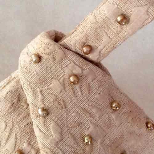 Gold Pearl Designer Wristlet